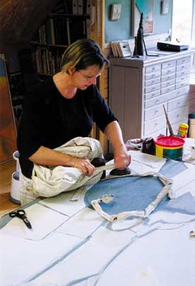 Anneke van Santen at work